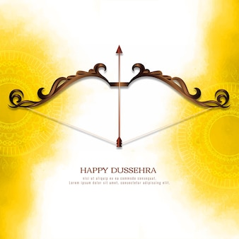 Traditional happy dussehra indian festival background vector