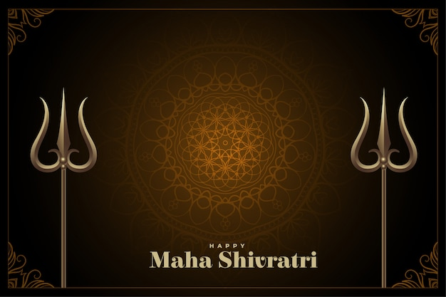 Traditional happy maha shivratri festival background