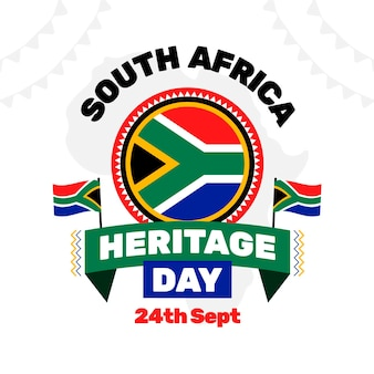 Traditional heritage day event illustration