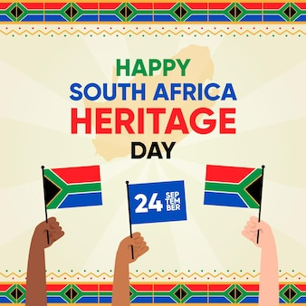Traditional heritage day illustration