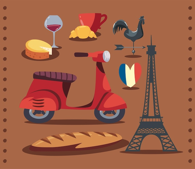 Traditional icons of france