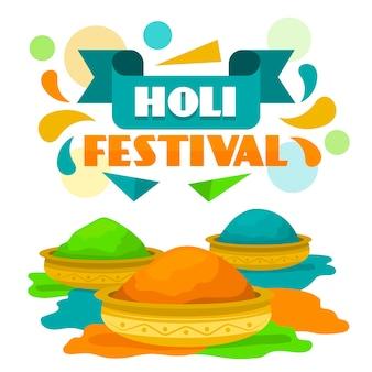Traditional indian holi festival