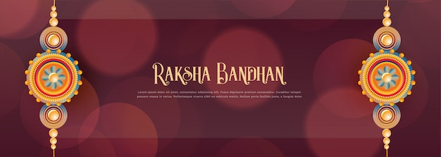 Traditional indian raksha bandhan festival banner design