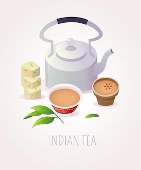 Сервировка традиционного индийского чая