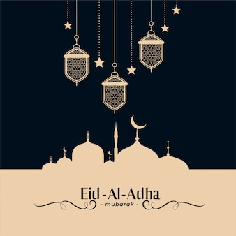 Traditional islamic eid al adha festival background