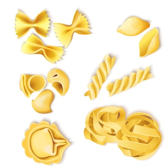Traditional italian pasta set