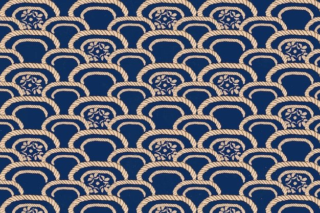 Traditional japanese pattern, remix of artwork by watanabe seitei