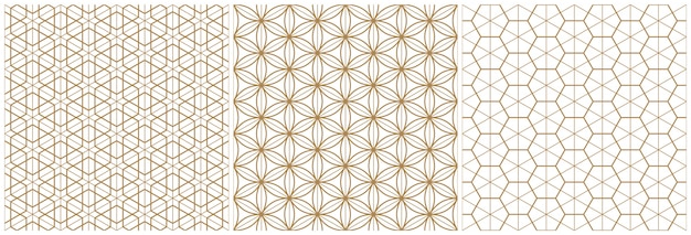 Traditional japanese seamless woodwork geometric pattern .brown average and thin lines.