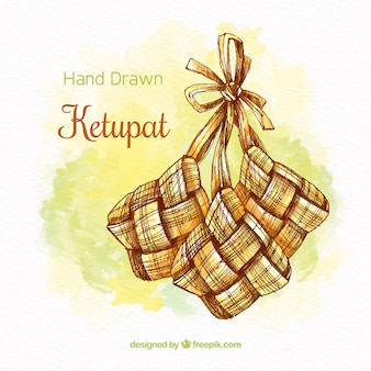 Traditional ketupat background