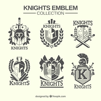 Traditional knight emblems