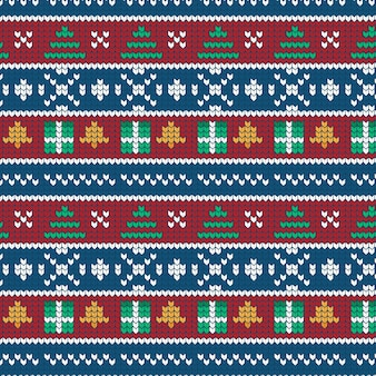 Traditional knitted christmas pattern