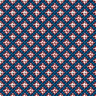 새해 스웨터에 대한 전통적인 뜨개질 패턴
