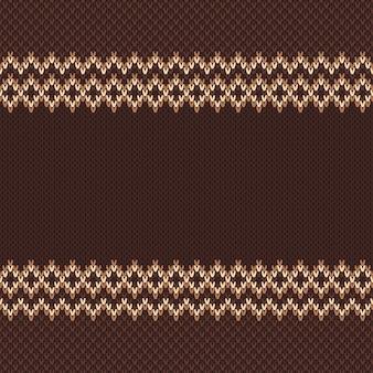 伝統的な編み物パターン