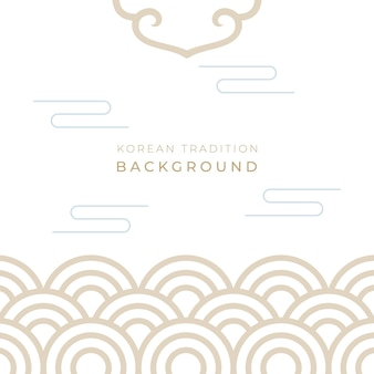 Traditional korean new year background