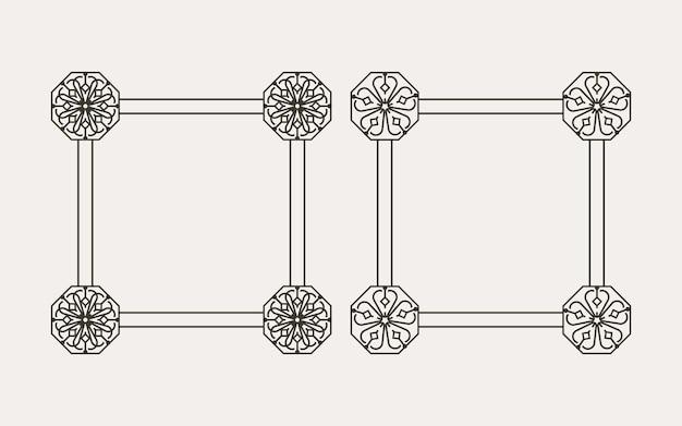 Traditional korean pattern frame design