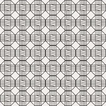 Traditional korean seamless pattern with hexagonal shape