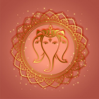 Traditional lord ganesha ethnic style background