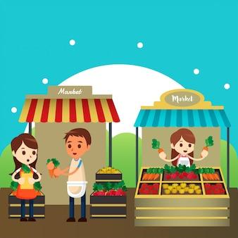 Традиционная рыночная иллюстрация