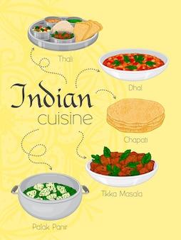 インド料理の伝統的な食事