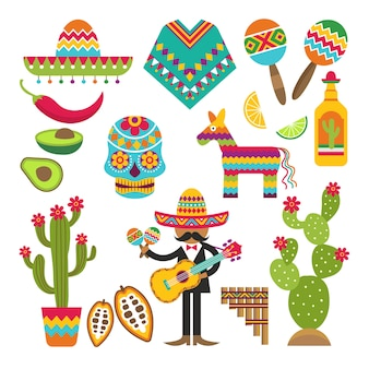 Traditional mexican elements