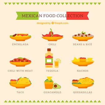 Traditional mexican food pack
