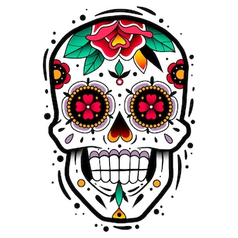 伝統的なメキシコのシュガースカル