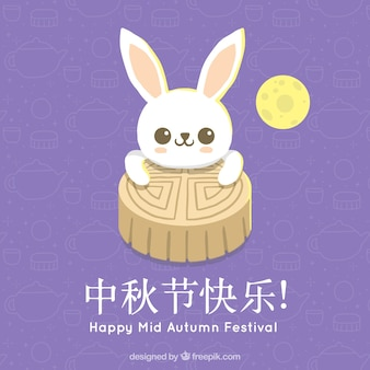 Traditional mid autumn festival's moon cake