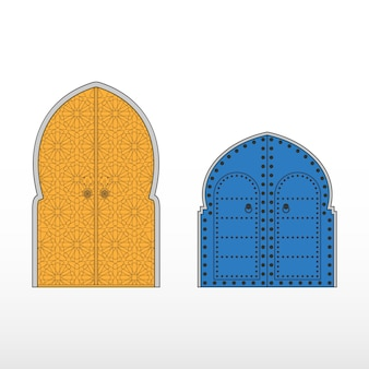 Traditional moroccan entry doors