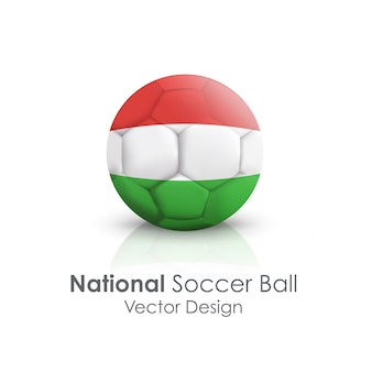 Traditional nation symbol clipping soccerball