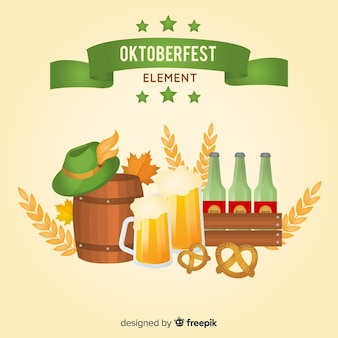 Traditional oktoberfest element collection with realistic design