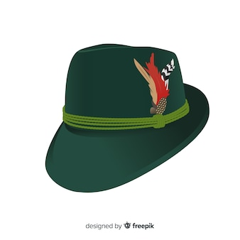 Traditional oktoberfest hat background