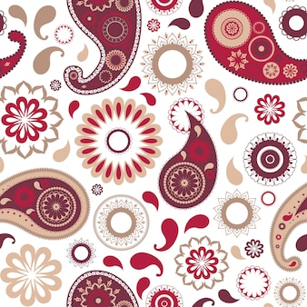 Traditional oriental paisley seamless pattern