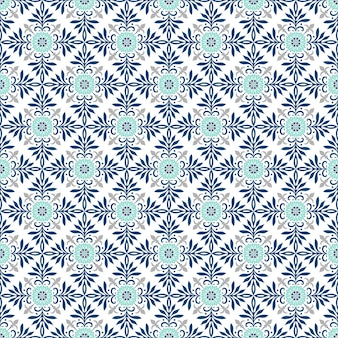 Традиционные богато украшенные португальские плитки азулежу. этнический народный орнамент. винтажный образец. майолика.