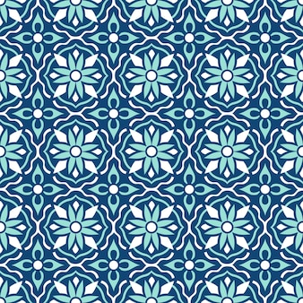 Traditional ornate portuguese tiles azulejos. ethnic folk ornament. the vintage pattern. majolica.
