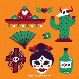 Traditional pack of mexican elements