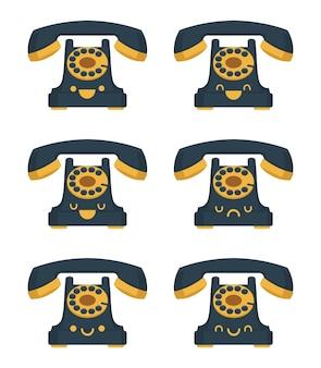 Традиционный телефон иллюстрации мультфильм каваи