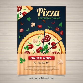 Traditional pizza restaurant poster