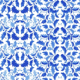 Traditional portuguese tile azulejo seamless pattern
