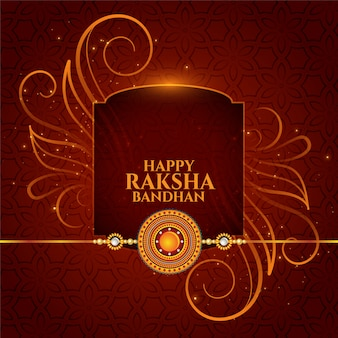 Traditional raksha bandhan brother and sister festival