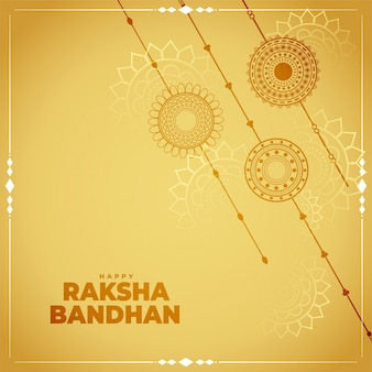 Traditional raksha bandhan festival card  background
