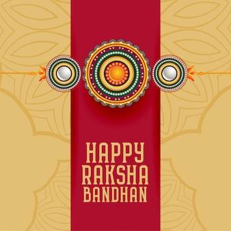 Traditional raksha bandhan hindu festival greeting