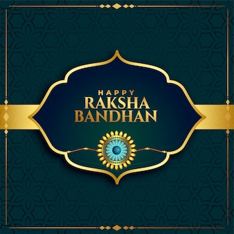 Traditional raksha bandhan indian festival card design