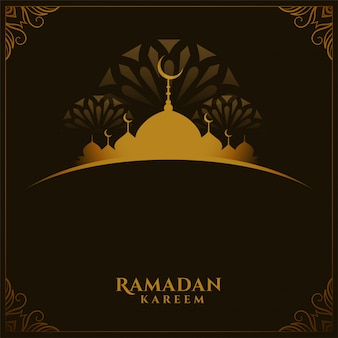 Traditional ramadan kareem festival card with text space