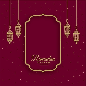 Traditional ramadan kareem islamic background with text space