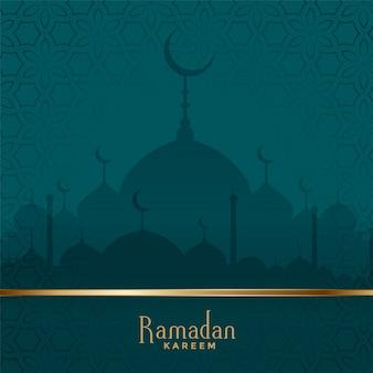 Traditional ramadan kareem mosque festival background
