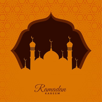 Traditional ramadan kareem seasonal greeting background