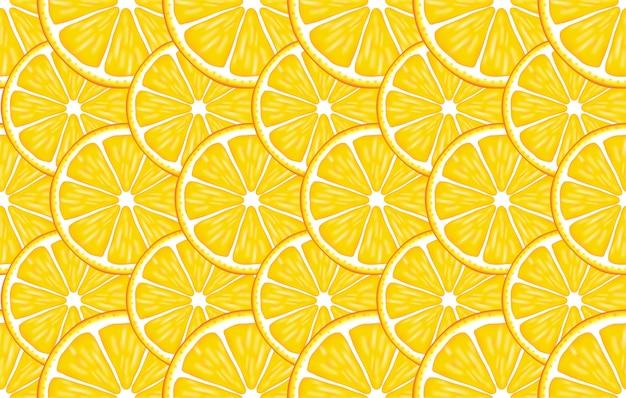 오렌지에 다채로운 감귤류와 전통적인 원활한 패턴