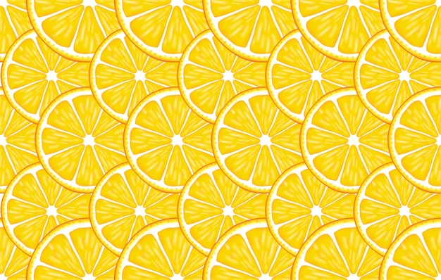 Traditional seamless pattern with colorful citruses on the orange
