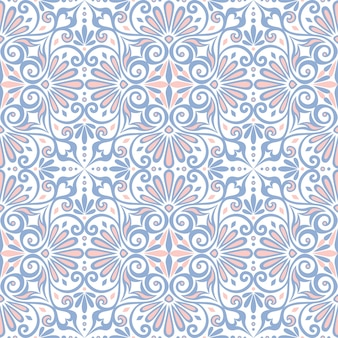 Traditional seamless vintage  floral pattern