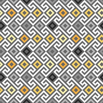 Traditional seamless vintage gold square greek ornament meander